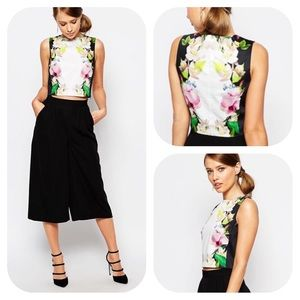 Ted Baker Forget Me Not Trellis Floral Cropped Top